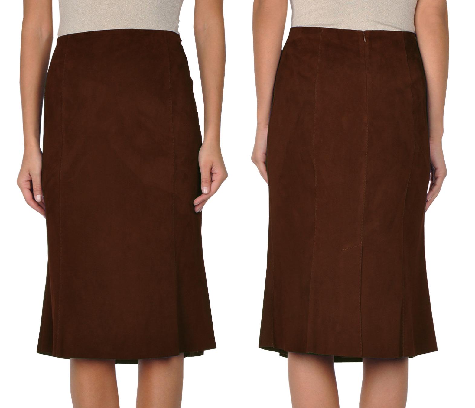 opulent summer leather skirt for