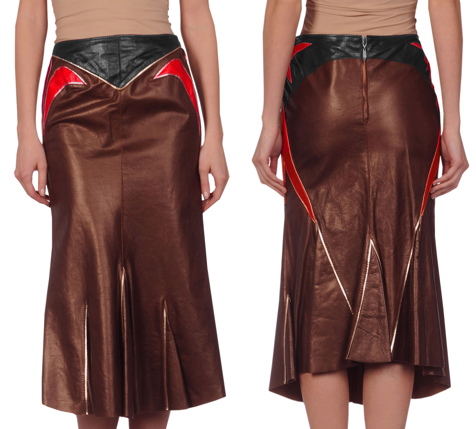 adorable summer leather skirt for