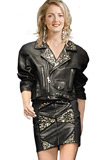 Short Studded Leather Jacket | Design Springs