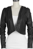 Charismatic Cropped Thanksgiving Jacket | Thanksgiving Day Leather Jacket