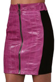 Zippered Leather Pencil Skirt for Thanksgiving Day