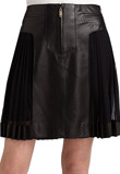 A-line Mini Thanksgiving Leather Skirt