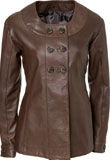 Adorable Hip Length Womans Leather Jacket | Leather Jackets for Womens Day