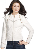 Modern Stand Collar Women Leather Jacket