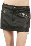 Womens Mini Skirt | International Youth Day Special Leather Skirt