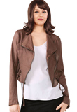 Gorgeous Funnel Collared Leather Jacket | Youth Day Collection