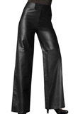 Haute High Waist Leather Pants | Leather Pants for Youth Day