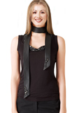 Sophisticated Stone Studded Leather Tops | International Youth Day 2010 Special