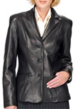 Classic Soft Leather Blazer