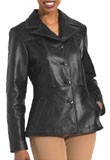 Cheap Classic Hip-Wide Leather Blazer