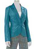Womens-Leather-Lamb-Blazer| Suede| Designer-Outfit