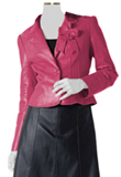 Designer Bow Style Blazer with Black Skirt
