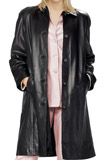 Buy Online leather swing coat