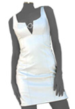 V Cut Out Lamb Leather Tank Top